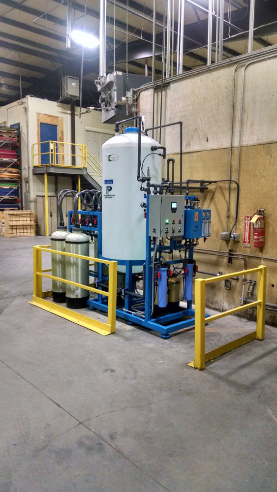 Type 1 2 gpm central RO-DI system at an industrial company